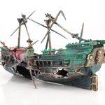 Aquarium Decor Resin Sailing Boat