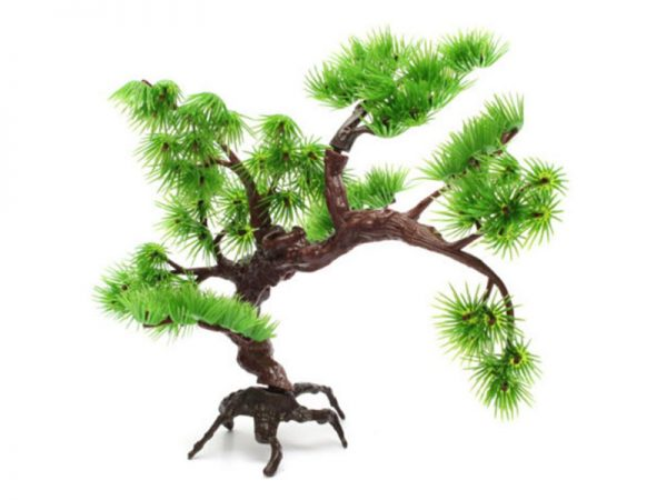 Artificial Plastic Pine Tree Plant Aquarium Decor