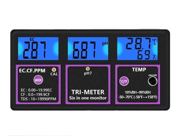 6 in 1 Digital Multi-parameter Water Quality Tester