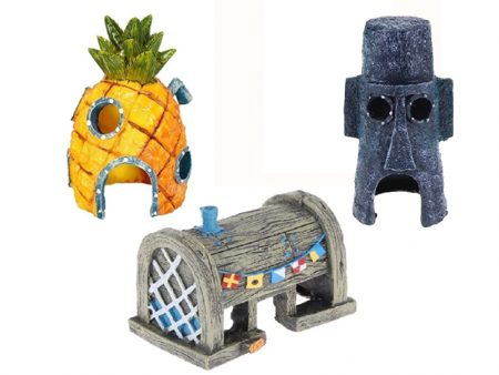 Aquarium Decoration Fish Shelter Cartoon Pineapple