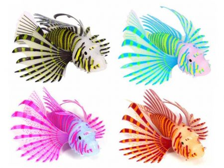 Artificial Luminous Lionfish Aquarium Decoration