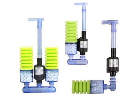 Biochemical Aquarium Sponge Filter with Submersible Water Pump Nicrew