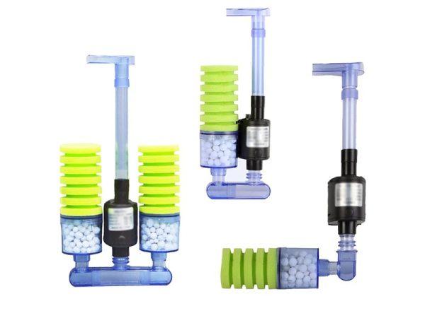 Biochemical Aquarium Sponge Filter with Submersible Water Pump Nicrew