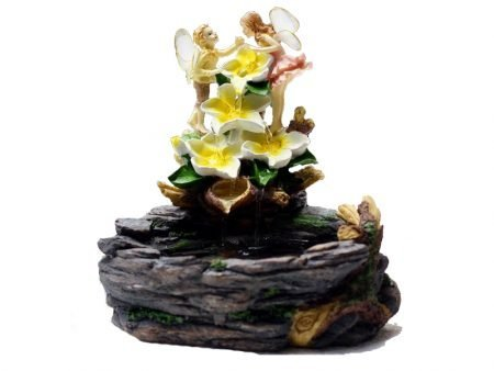 Creative European Couple Angels Resin Water Fountain