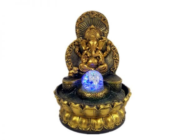 Elephant God Ganesha Lucky Indoor Water Fountain
