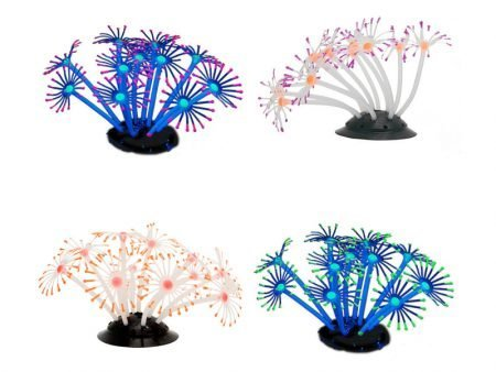 Silicone Decoration Glowing Artificial Flower Aquarium