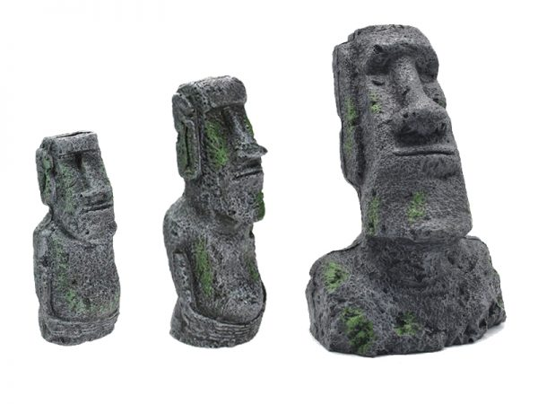 Easter Island Stone Statue Aquarium Decoration