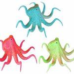 Fluorescent Artificial Octopus Aquarium Decoration