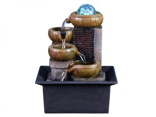 LED Resin Indoor Home Fountain