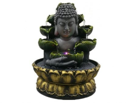 Led Home Fountain Lucky Statue Buddha