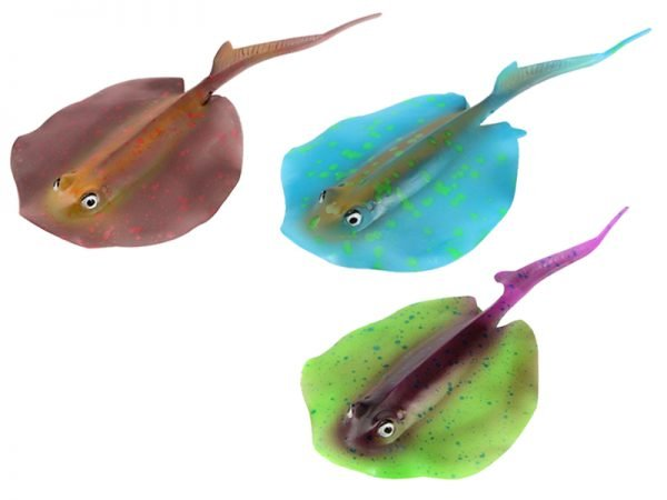 Aquarium Decoration Colorful Artificial Stingray 0