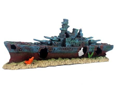 Aquarium Decoration Navy Battle Ship